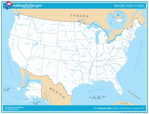 usa map of rivers blank us map with rivers and lakes