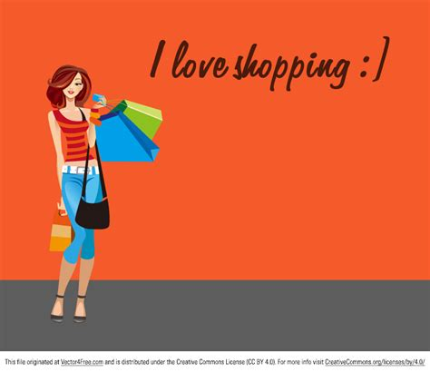 image gallery i love shopping icons shopping woman free vector art
