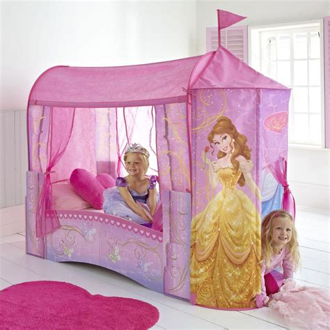 Princess Toddler Bed With Canopy Disney Princess Feature Castle Toddler Bed Mattress New Official Ebay