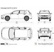 The Blueprintscom  Vector Drawing Volkswagen Golf GTI VII