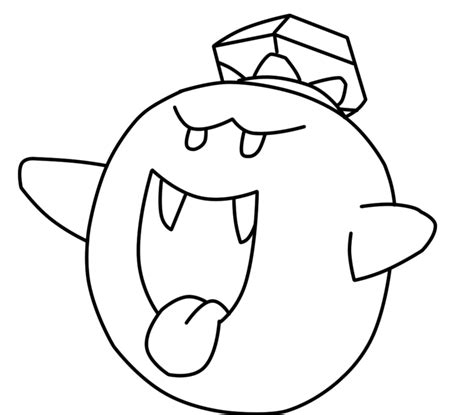 mario ghost coloring pages king boo coloring pages clipart best