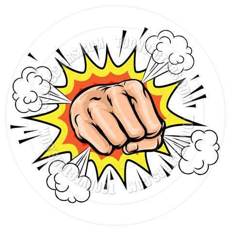 Home Decorative Items by Exploding Cartoon Fist By Geoimages Toon Vectors Eps 162899
