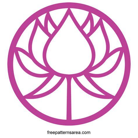 svg pattern circle circle lotus flower silhouette free vector pattern