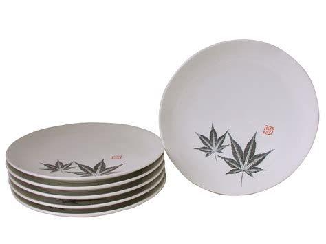 Stoneware Kitchen Canisters Amber Glow Japanese Maple Asian Dinnerware Plates Set For Six