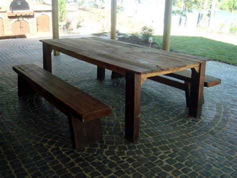 Diy Patio Tables Woodwork Diy Wood Outdoor Table Pdf Plans