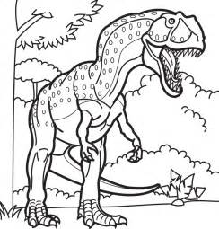 Galerry cartoon dinosaur coloring sheets