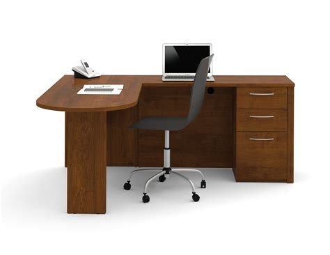 Small L Shaped Desks Bestar Embassy L Shaped Desk With Peninsula