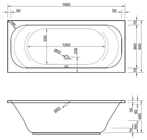 80 X 180 Matratze Günstig by Rechteck Badewanne 80 X 180 Cm Mit 220 Berlauf Ablauf In Der