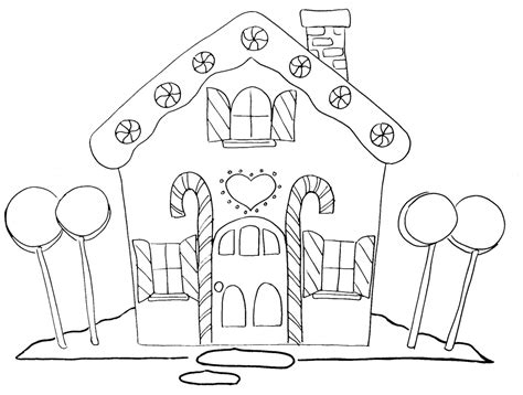 house pattern coloring page gingerbread house outline clipart best