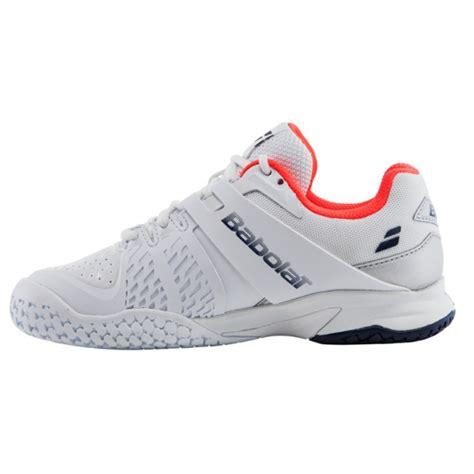 babolat propulse all court junior tennis shoes white blue