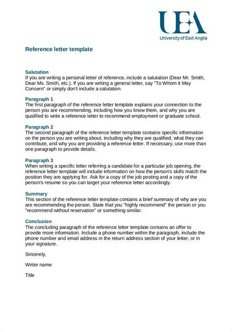 10 employment reference letter templates free sample example for