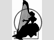 Vintage Harp Lady Silhouette - The Graphics Fairy 2016 New Year Religious Clip Art