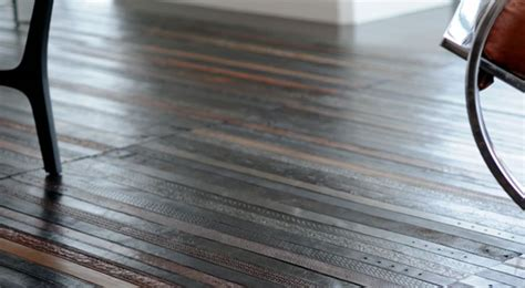 eco friendly flooring recycled leather belts turned into eco friendly flooring