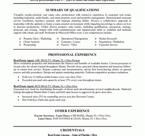 entry level accounting resume exles realtor resume exles real estate resume exles