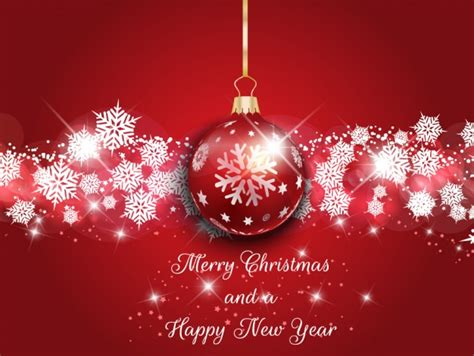 christmas background with shiny bauble vector free download