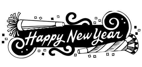 Happy New Years Clip by Happy New Year 2017 Clip Black And White Happy