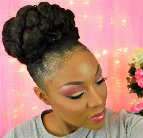 40 updo hairstyles for black 2017 herinterest