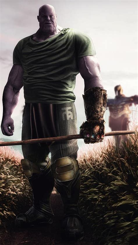 thanos scarecrow farmer iphone wallpaper iphone wallpapers