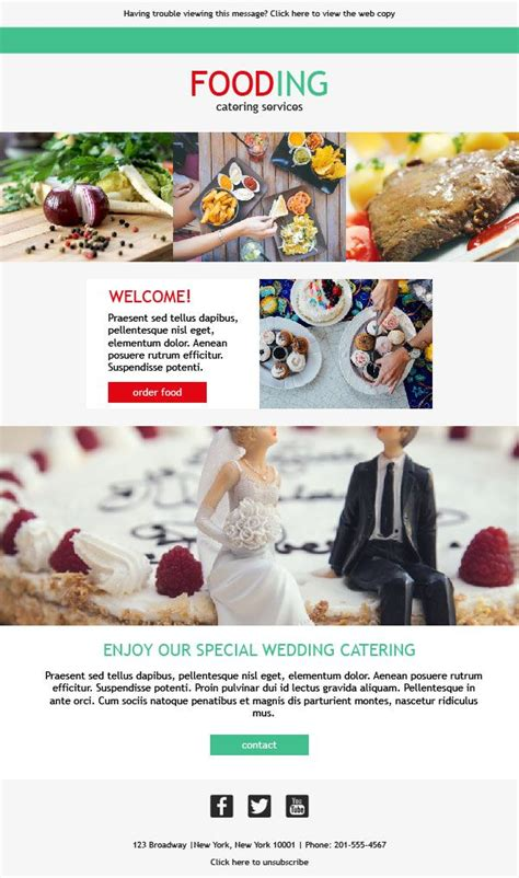 catering email template 10 best email templates for catering services images on