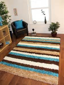 teal blue chocolate brown striped mat anti shedding