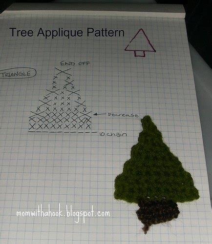 crochet christmas tree applique pattern free free crochet pattern christmas tree applique