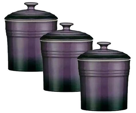 purple kitchen canisters cfee glass storage containers