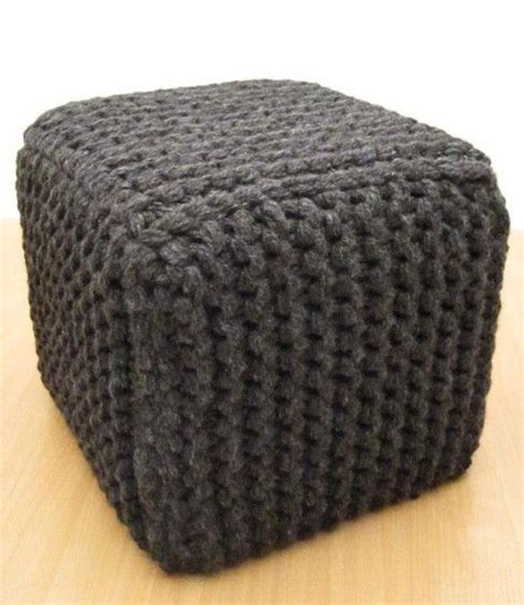 Knitted Ottoman Crocheted Knitted Home Pinterest