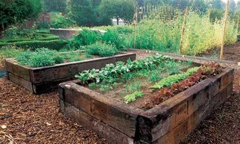 bed ties railroad ties raised beds school garden pinterest