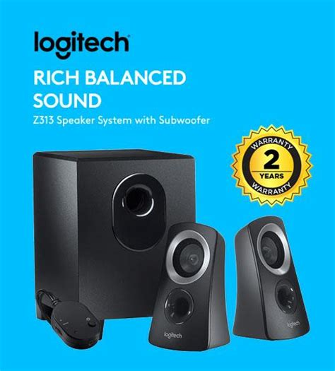 Logitech Speaker Z313 2 1 logitech z313 rich balanced sound 2 end 3 29 2018 1 15 pm