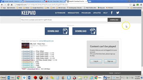 download youtube via web keep vid how to download a youtube video using keepvid