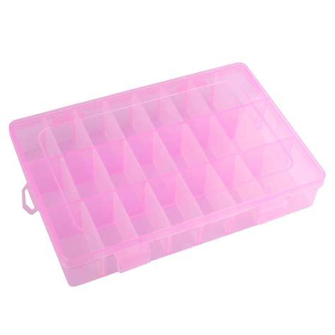 Storage Bag Storage Tool Tempat Menyimpan Apa Aja yang dapat 24 kotak penyimpanan plastik kotak perhiasan anting anting pula berwarna merah muda