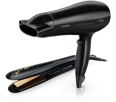 Hair Dryer And Hair Straightener Combo philips hp8646 hair dryer straightener combo styling kit ionic conditioning