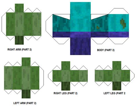 Minecraft Papercraft Mutant - papercraft mutant resized and clearer
