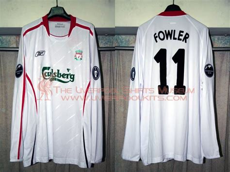 Jersey Liverpool Away 20042005 Sleeve the liverpool shirts museum 2000s replica shirts episode 3