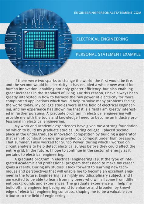 engineering personal statement exles