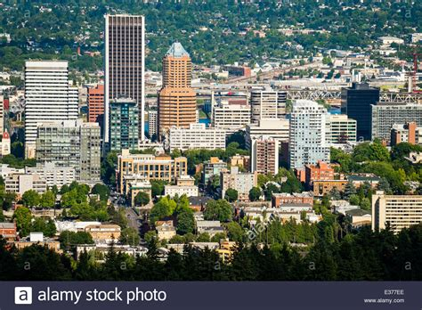 go section 8 portland oregon downtown portland oregon cityscape in the afternoon view