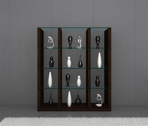 wall unit display cabinet float contemporary wall unit in timber chocolate with