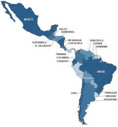 a map of central and south america map of mexico and south america and central america
