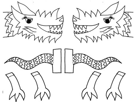 printable dragon templates classroom crafts to celebrate the chinese new year