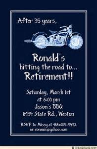 invitation card matter for retirement in motorcycle retirement card blue classic design