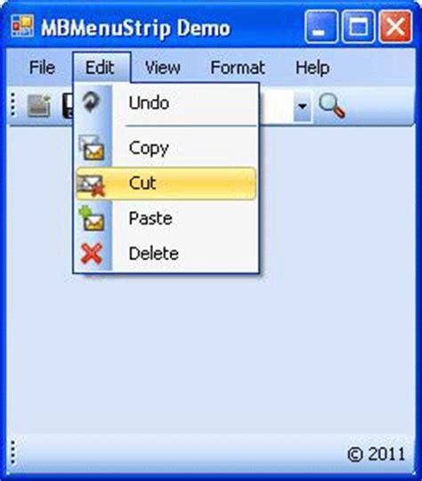 design menustrip c menustrip control with microsot office