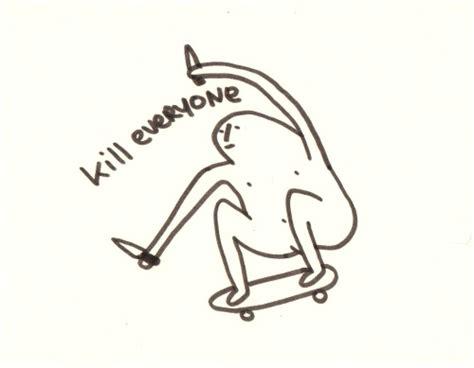 doodle kill skateboarding kill doodle skate kill kill kill