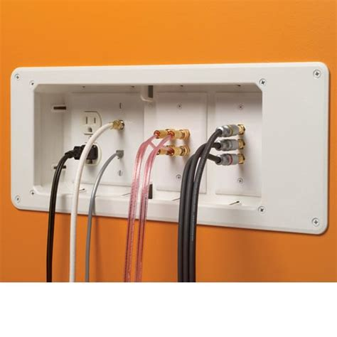 low voltage wiring box recessed tv box for power and low voltage multimedia