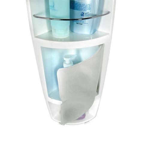 angoliera doccia angoliera doccia polipropilene con 3 ripiani porta oggetti