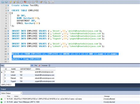 mysql query date format in where clause sql remove duplicate rows without temporary table