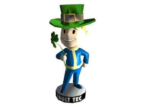 bobblehead in megaton free papercraft and paper model fallout 3 luck