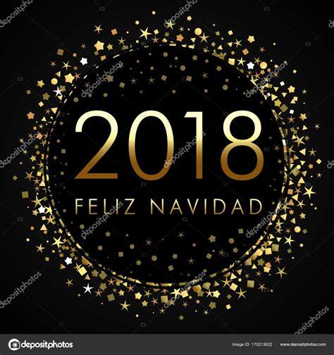 imagenes animadas feliz 2018 2018 feliz navidad en etiqueta negra con estrellas doradas
