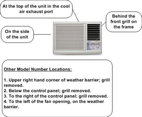 air conditioner model number locator find the right part