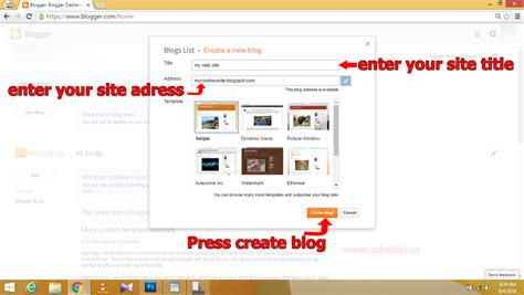 build blog arshad kmods tricks how to create website free tutorial