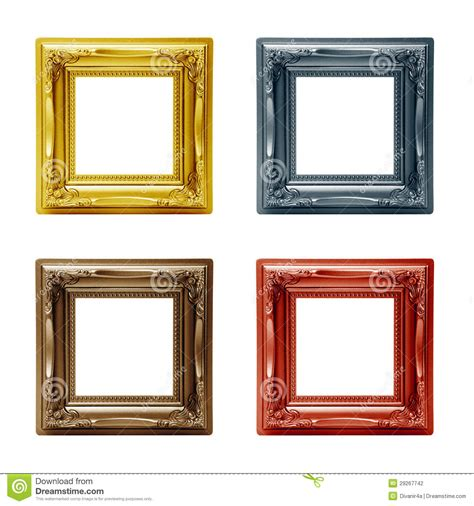 different picture frames four different picture frames stock photography image